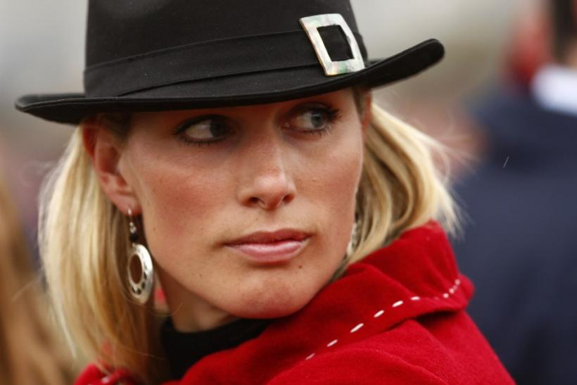 Zara Phillips attends the third day of the Cheltenham Festival horse racing in Gloucestershire, western England