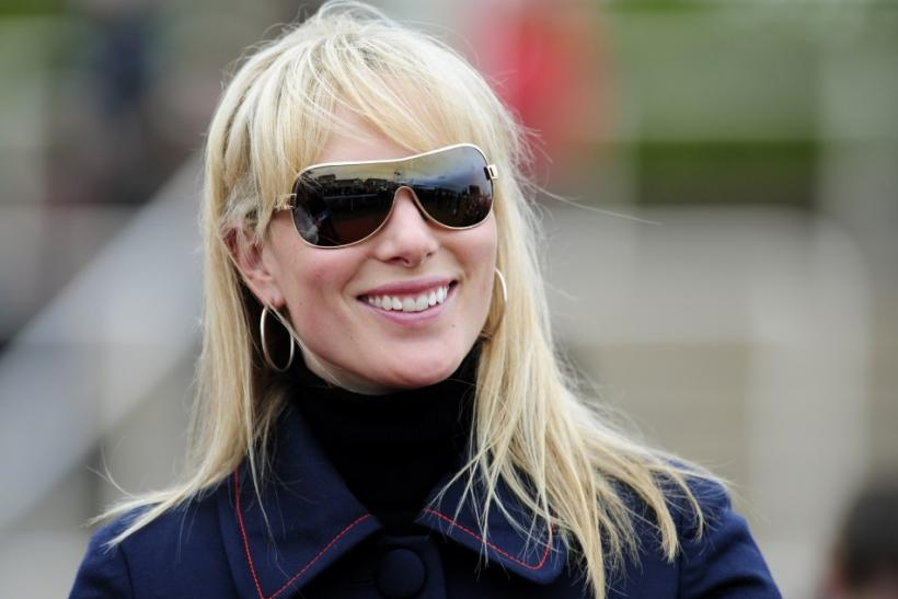 Britain's Zara Phillips smiles during the second day of the Cheltenham Festival horse racing meeting in Gloucestershire, western England