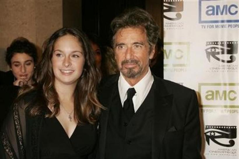 Actor Al Pacino and his daughter Julie arrive at the 20th annual American Cinematheque Award gala honoring Pacino in Beverly Hills
