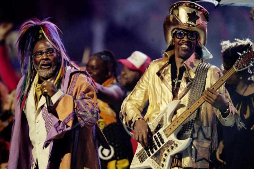 George Clinton (L) and Bootsy Collins