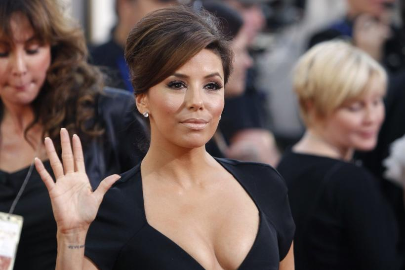 Actress Eva Longoria arrives at the 68th annual Golden Globes Awards in Beverly Hills