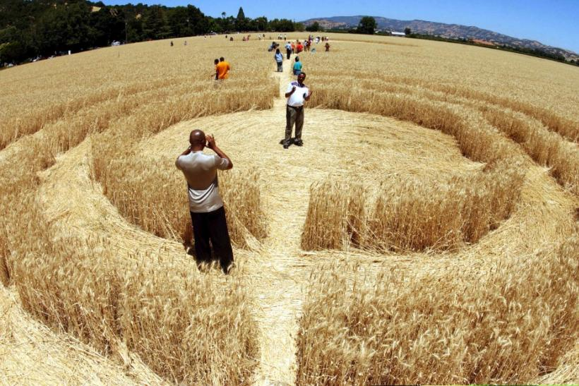 Aliens or Terrestrial Hoaxers: Crop Circles Created Using GPS, Lasers and Microwaves.