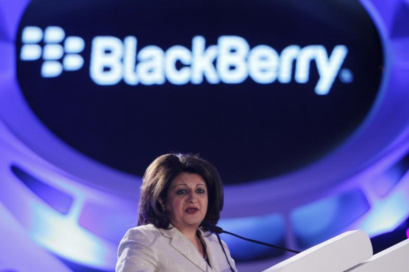 Frenny Bawa speaks during a news conference at the launch of the Blackberry PlayBook in Mumbai