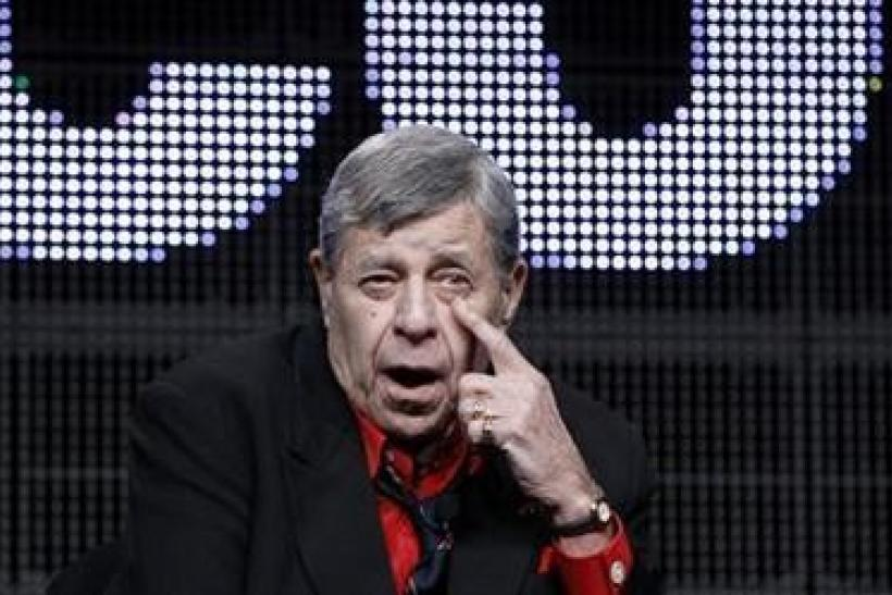 Actor and comedian Jerry Lewis speaks during the encore session for ''The Method to the Madness of Jerry Lewis'' at the 2011 Summer Television Critics Association Cable Press Tour in Beverly Hills, California