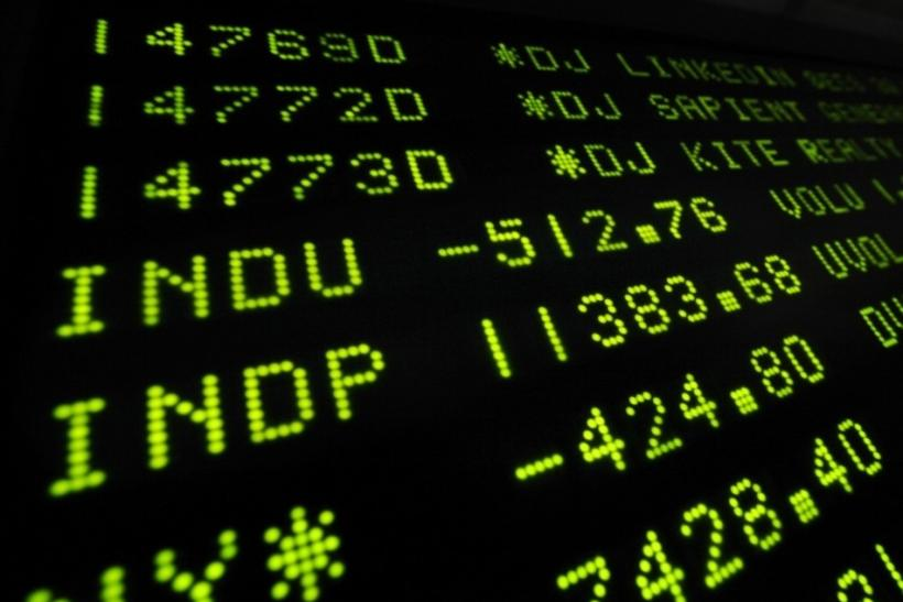 A board at the New York Stock Exchange shows the final trading numbers for the day