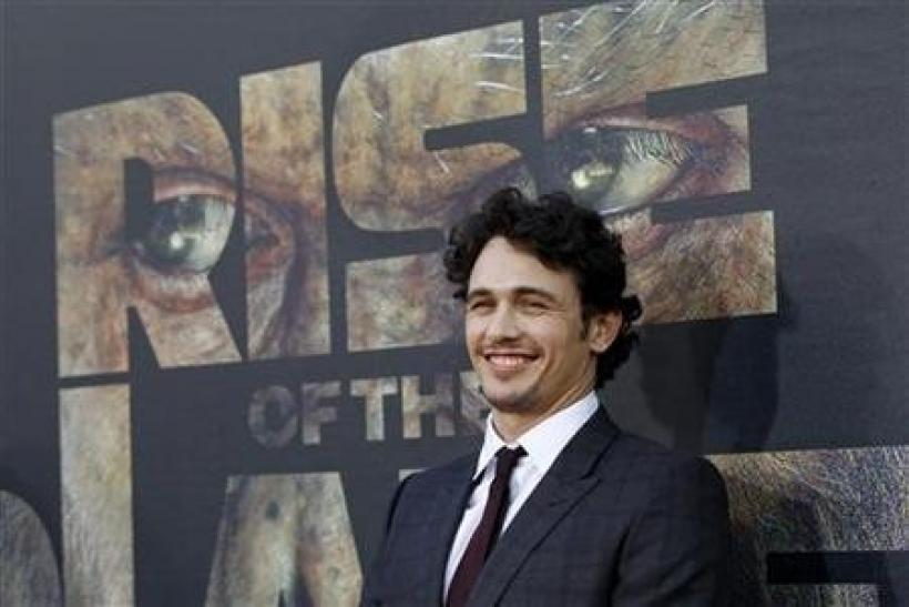 Cast member James Franco poses at the premiere of ''Rise of the Planet of the Apes'' at the Grauman's Chinese theatre in Hollywood, California