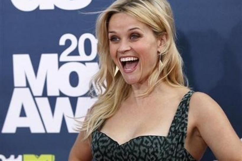 Actress Reese Witherspoon arrives at the 2011 MTV Movie Awards in Los Angeles
