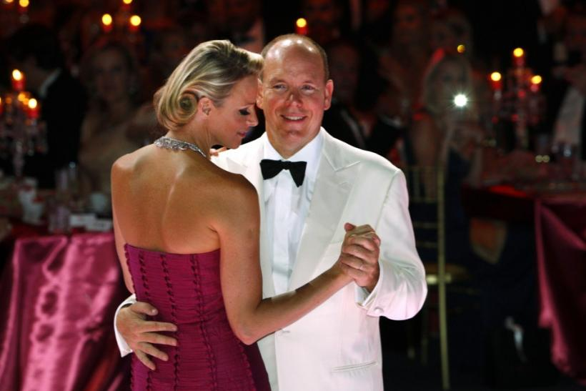 Stunning Princess Charlene during the Red Cross Ball