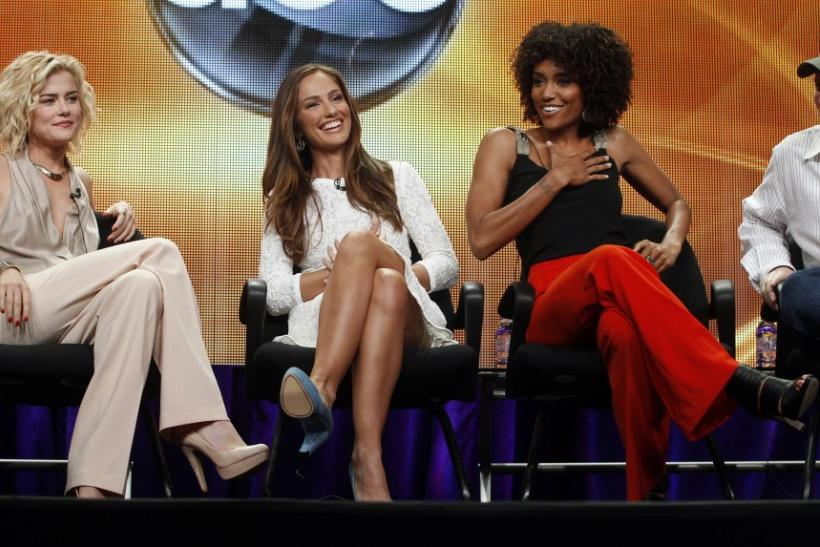 "Actresses Taylor, Kelly and Ilonzeh, stars of new series ""Charlie's Angels"", take part in panel session at ABC Summer TCA Press Tour in Beverly Hills"