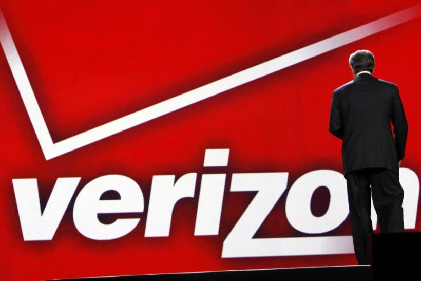Verizon CEO Seidenberg leaves the stage after he delivered his keynote address on the opening day of the CES in Las Vegas