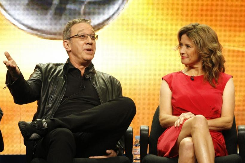 "Allen and Nancy Travis attend the ABC session for ""Last Man Standing"" during the 2011 Summer Television Critics Association Cable Press Tour in Beverly Hills"