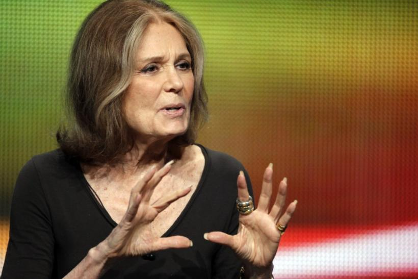 Writer and activist Gloria Steinem speaks during a session about a documentary on her life 'Gloria In Her Own Words' during the HBO session at the 2011 Summer Television Critics Association Cable Press Tour in Beverly Hills