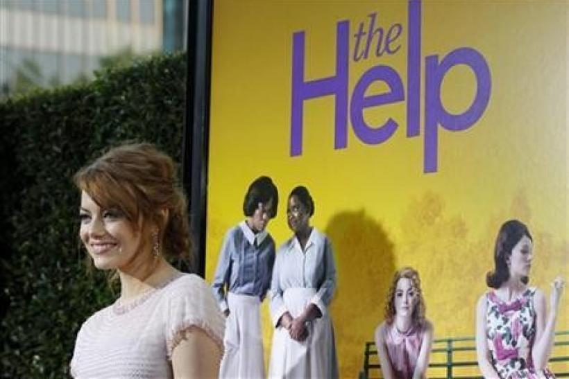Cast member Emma Stone poses at the premiere of the movie ''The Help'' at the Samuel Goldwyn Theatre in Beverly Hills, California August 9, 2011. The movie opens in the U.S.