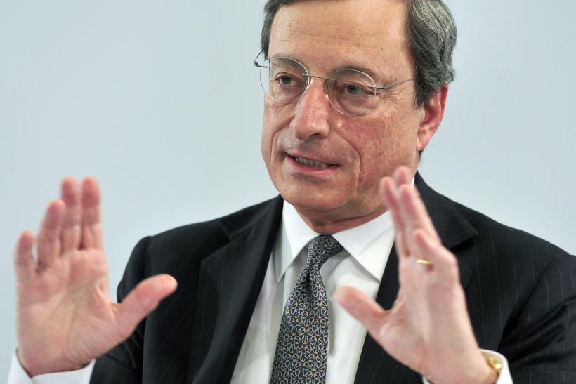 ECB President Mario Draghi at a press conference Thursday.