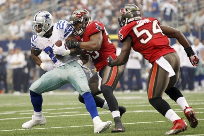 DeMarco Murray left Sunday's game with an injury.