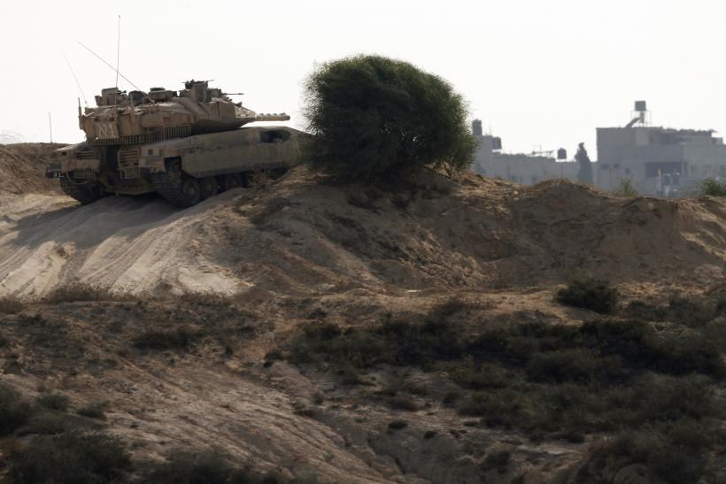 Israeli Tank On Gaza Border