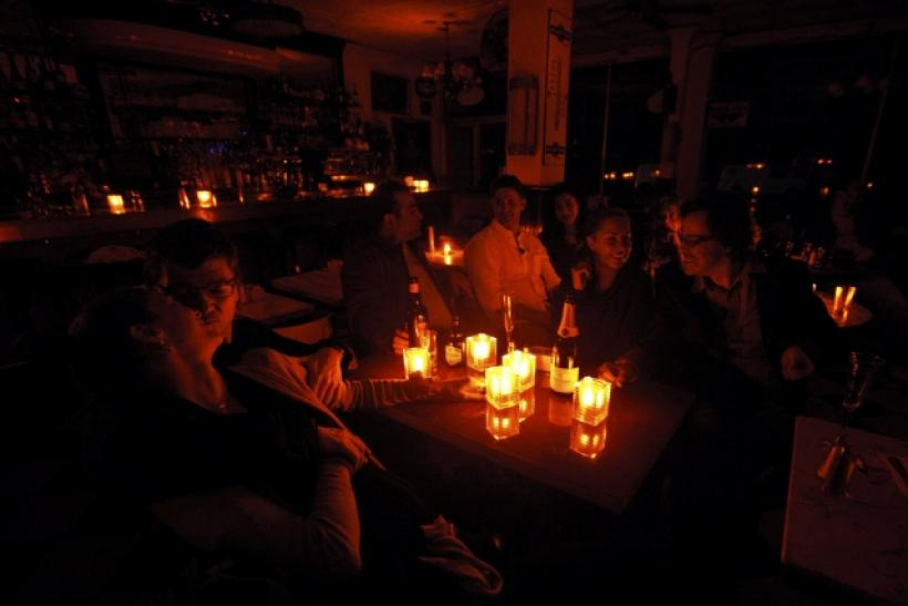 Candle light during blackout