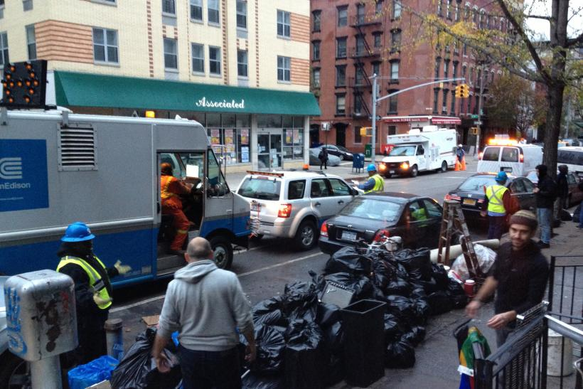 Hurricane Sandy Recovery Begins On Avenue C