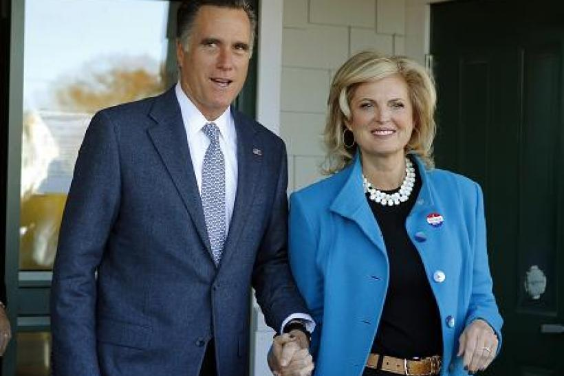 Romney Mitt Ann Election Day 2012 2