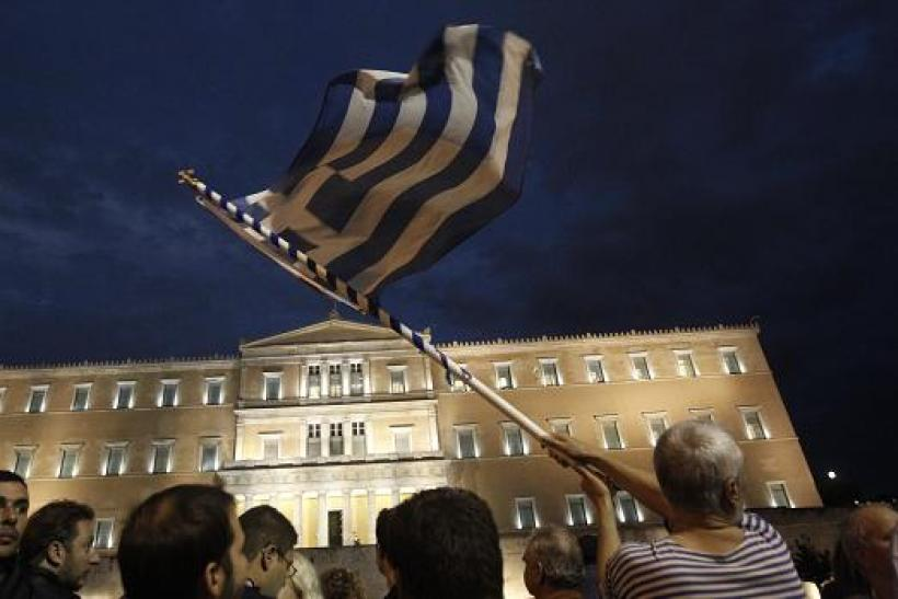 Greece protest flag 7 Nov 2012 2