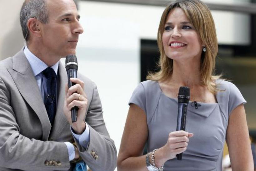 Matt Lauer (left)