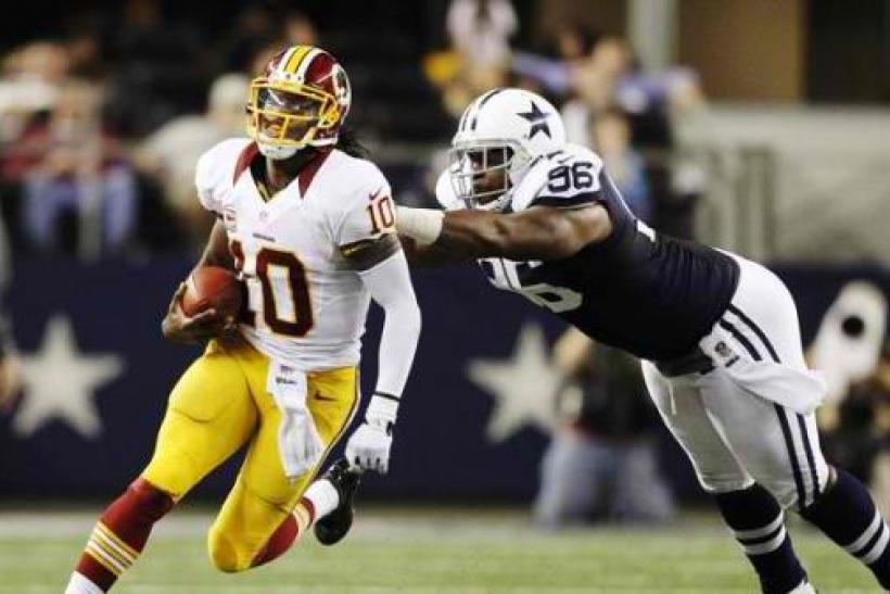 huge selection of 0a1e9 4c8f7 Griffin Fined $10,000: RG3 Penalized By NFL For Wearing ...