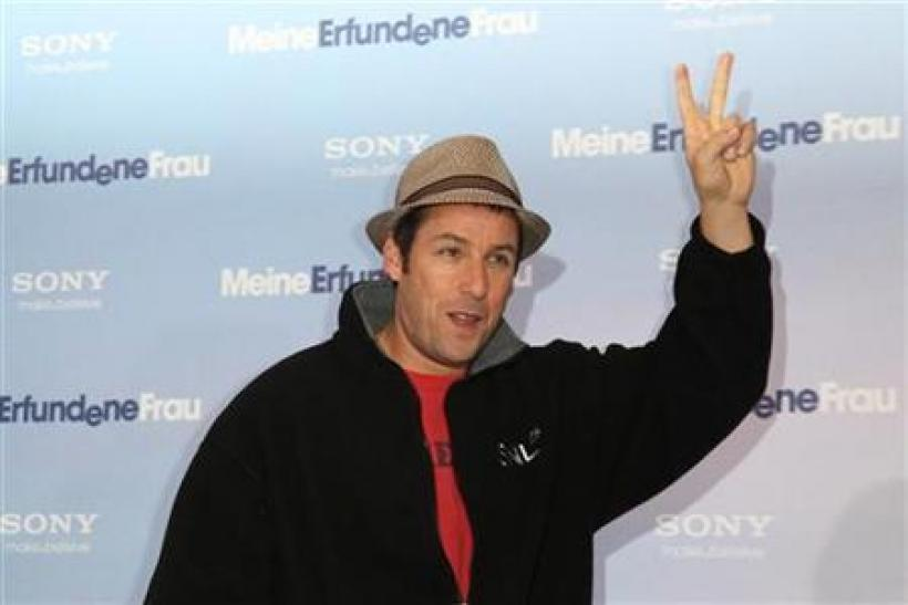 Adam Sandler was one of countless stars at the 12-12-12 concert.