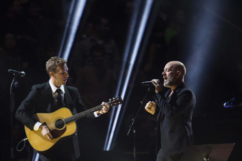 Chris Martin and Michael Stipe