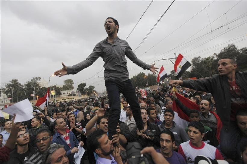 Protestors in Cairo in December 2012