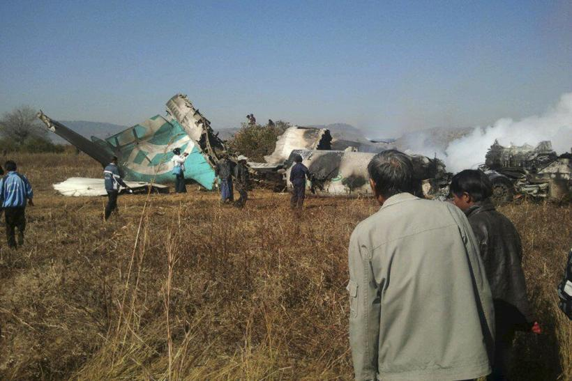 Airliner Crash Lands On Road