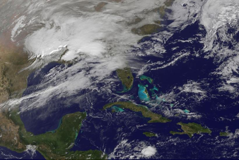 NASA handout image shows storm clouds on the east coast of the United States