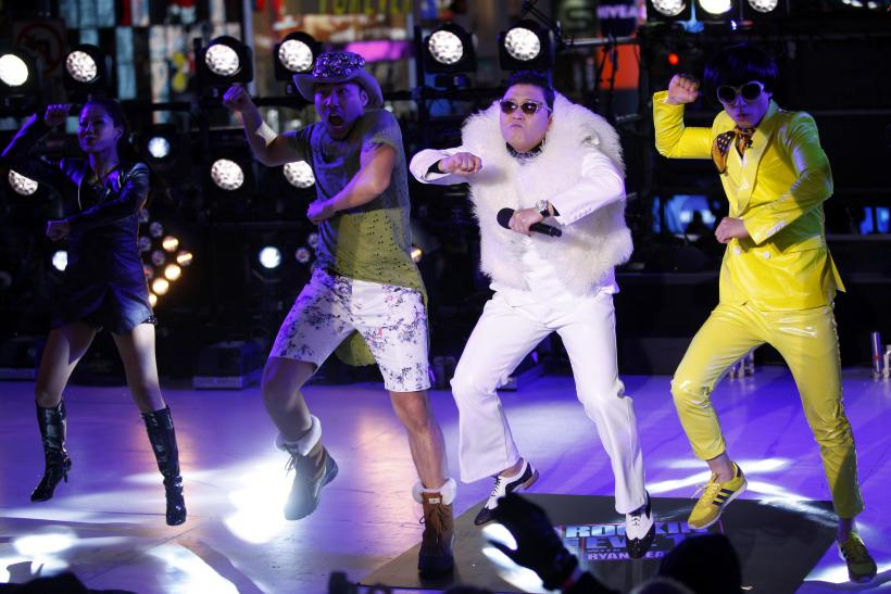 PSY performs during New Year's Eve celebrations