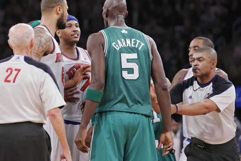 Carmelo Anthony Confronts Kevin Garnett