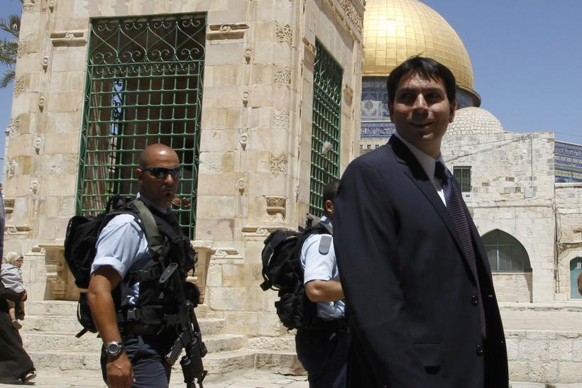 Danny Danon at the Dome of the Rock