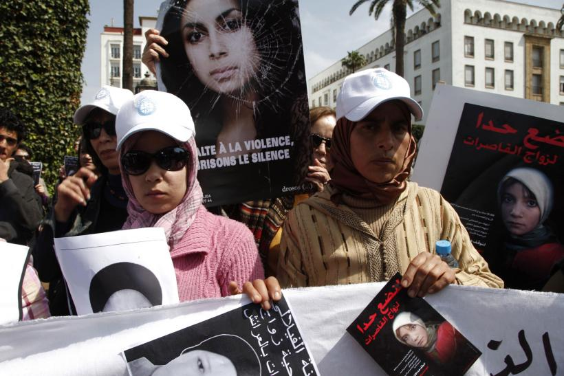 Protest After Amina Al-Filali Suicide In Rabat