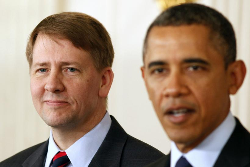 Barack Obama and Richard Cordray, White House, Washington-Jan. 24, 2013