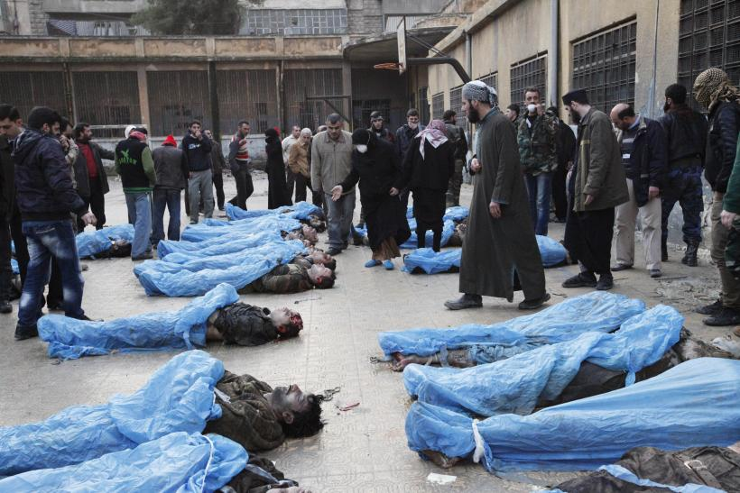 Washed up bodies in Aleppo, Syria