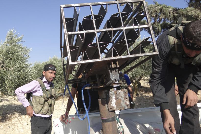Free Syrian Army Homemade Rocket Launcher
