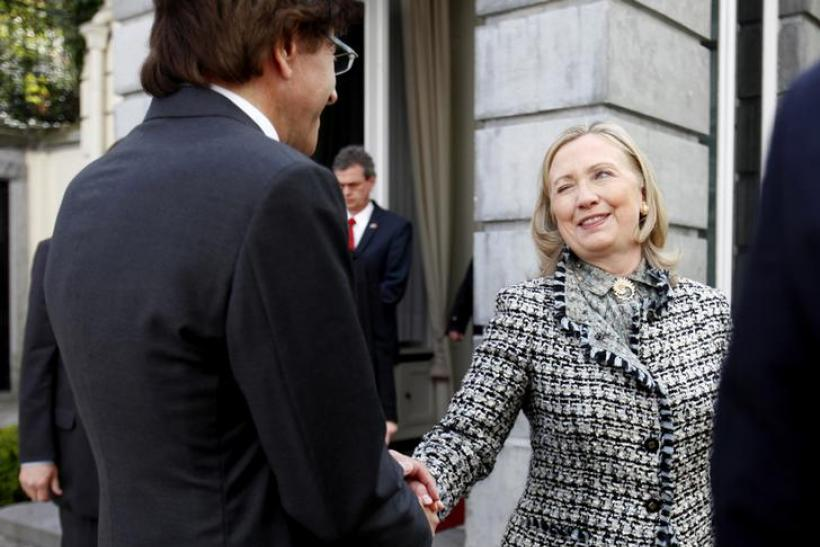 Clinton in Belgium, April 18, 2012