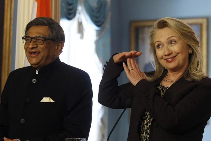 Clinton and Indian Foreign Minister Krishna, June 13, 2012