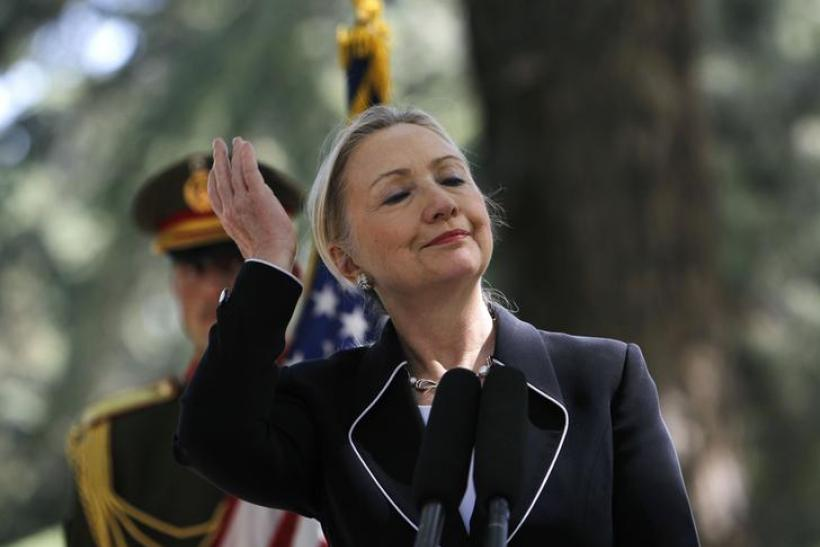 Clinton in Kabul, July 7, 2012