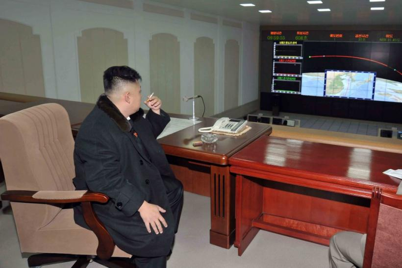 Kim Jong-un, the North Korean leader, smoking a cigarette