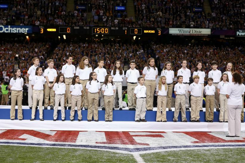 Super Bowl XLVII-Feb. 3, 2013-Sandy Hook Elementary School Choir