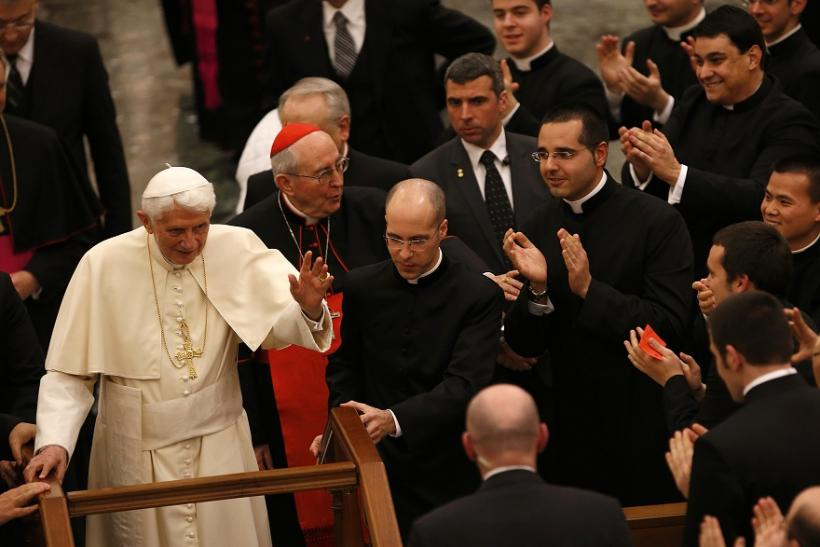 Pope Benedict With Priests