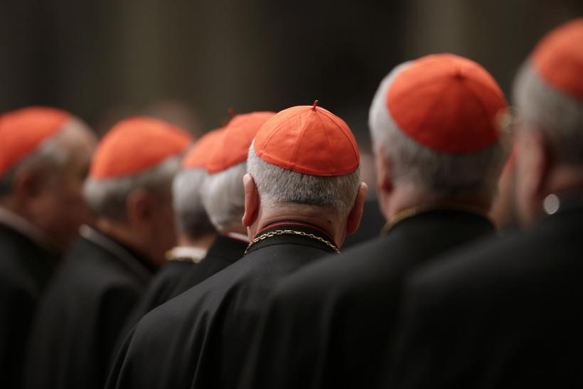 Cardinals During Pre-Conclave Meeting
