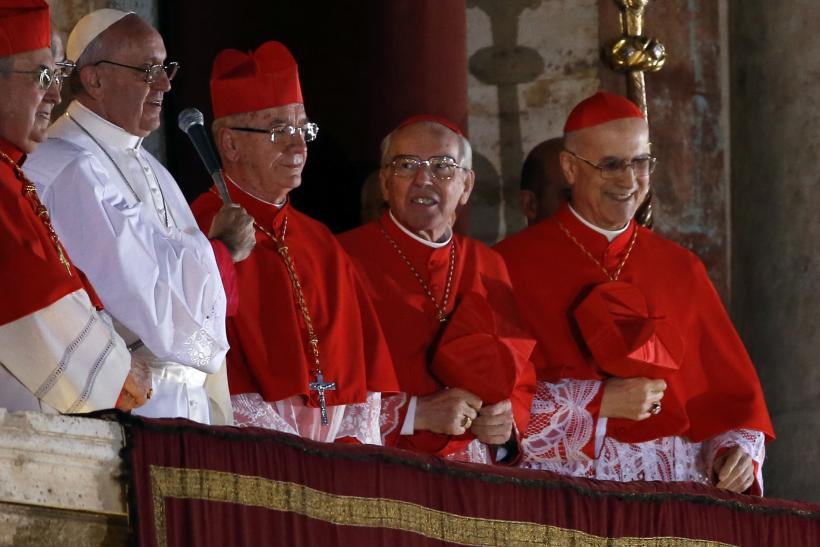 Pope Francis red