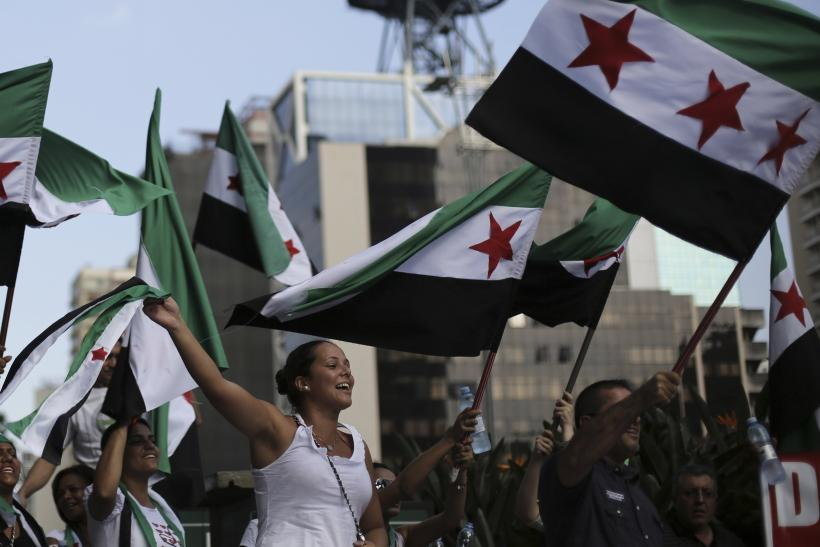 Syria protest in Brazil