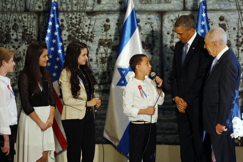 Obama Israel 20March2013 Perez kids