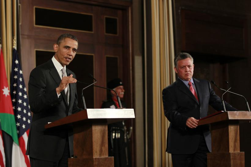 Obama and King Abdullah of Jordan
