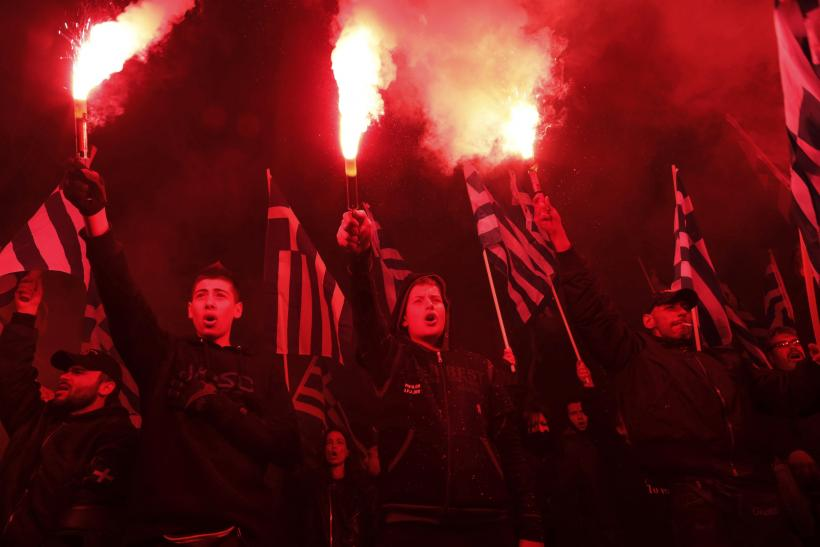 Golden Dawn rally in Athens Greece